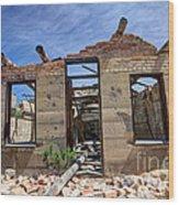 Historic Building Nine Mile Canyon - Utah Wood Print