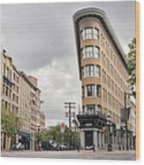 Historic Buildings In Gastown Vancouver Bc Wood Print
