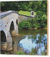 Historic Burnside Bridge Wood Print