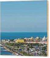 Historic Cartagena And Sea Wood Print