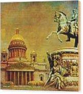 Historic Center Of Saint Petersburg Wood Print