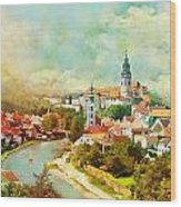 Historic Centre Of Cesky Krumlov Wood Print