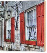 Historic Charleston Pirates House Wood Print
