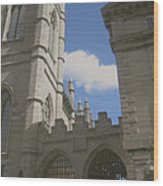 historic churches photography Detail Notre Dame Basilica Montreal Wood Print