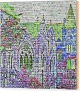 Historic Churches St Louis Mo - Digital Effect 4 Wood Print
