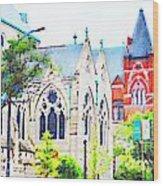 Historic Churches St Louis Mo - Digital Effect 7 Wood Print