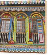 Historic Colorful Peranakan House Wood Print