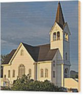 Historic Country Church Art Prints Wood Print