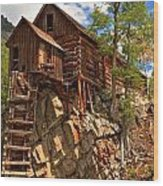 Historic Crystal Mill Wood Print by Adam Jewell