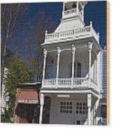 Historic Firehouse No. 1 Nevada City California Wood Print