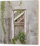 Historic Florida Building - Apalachicola Exchange Building Wood Print by Bill Swindaman