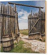 Historic Fort Bridger Gate - Wyoming Wood Print