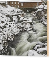 Historic Harrisville Nh In Winter Wood Print