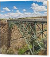 Historic Highway Bridge Wood Print