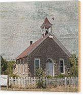 Historic Hinerville School  House  Wood Print