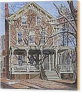 Historic Home Westifled New Jersey Wood Print