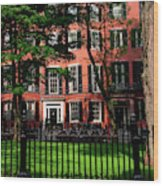 Historic Homes Of Beacon Hill, Boston Wood Print