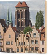 Historic Houses In Gdansk Wood Print