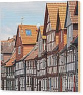Historic Houses In Germany Wood Print