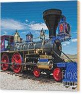 Historic Jupiter Steam Locomotive - Promontory Point Wood Print by Gary Whitton