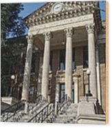 Historic Limestone County Courthouse In Athens Alabama Wood Print