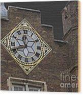 Historic London Clock Wood Print