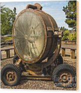 Historic Military Spotlight - Fort Stevens - Oregon Wood Print