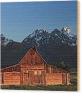 Historic Moulton Barn Wood Print