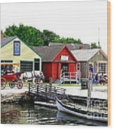 Historic Mystic Seaport Wood Print
