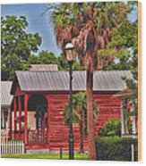 Historic Pensacola With Added Color Wood Print
