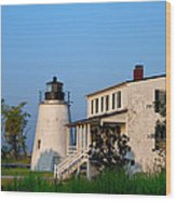 Historic Piney Point Lighthouse Wood Print