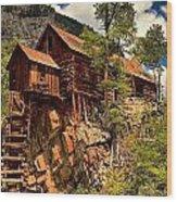 Historic Power Plant Wood Print