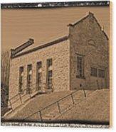 Historic Power Sepia Wood Print