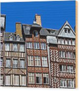 Historic Rennes Wood Print by Jane Rix