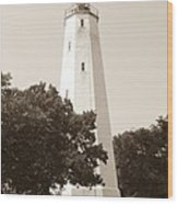 Historic Sandy Hook Lighthouse Wood Print