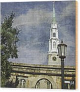 Historic Savannah Church Wood Print