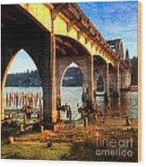 Historic Siuslaw River Bridge Wood Print