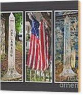 Historic State Line Wood Print