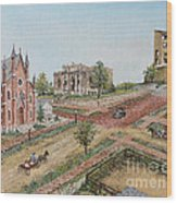 Historic Street - Lawrence Ks Wood Print