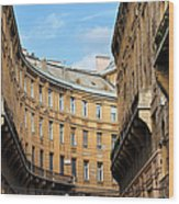 Historic Tenement Houses In Budapest Wood Print