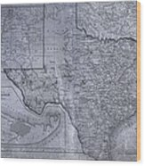 Historic Texas Map Wood Print by Dan Sproul