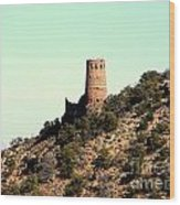 Historic Tower Of Grand Canyon Wood Print