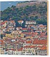 Historic Town Of Sibenik Panorama Wood Print
