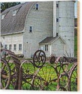 Historic Uniontown Washington Dairy Barn Wood Print