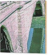 Historic Venice Canal Bridge In California Falling Apart In 1970. Wood Print