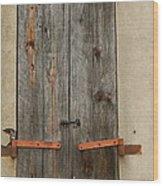 Historic Window Shutters Wood Print