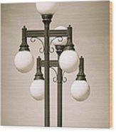 Historic Ybor Lamp Posts Wood Print