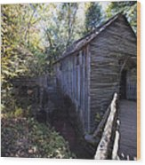 Historical 1868 Cades Cove Cable Mill Wood Print