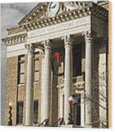 Historical Athens Alabama Courthouse Christmas Wood Print
