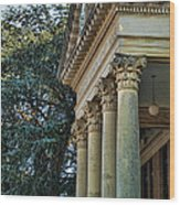 Historical Athens Alabama Courthouse Wood Print
